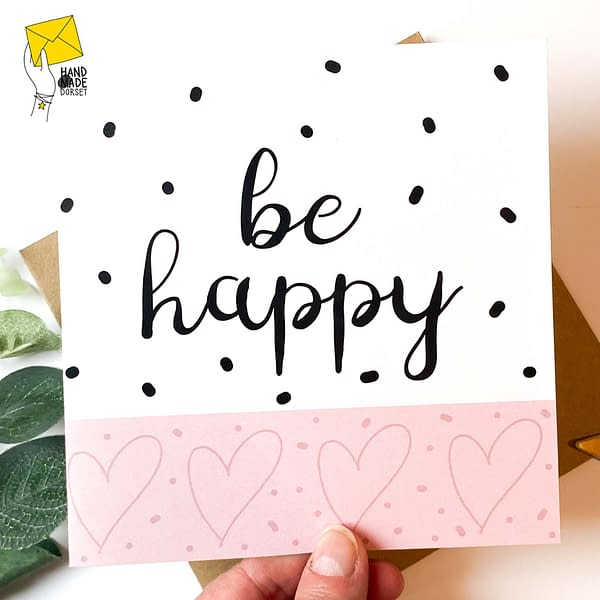 be happy card, positive card