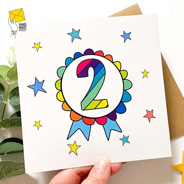 2nd Birthday card, card for 2 year old