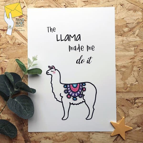 Llama print, funny llama print