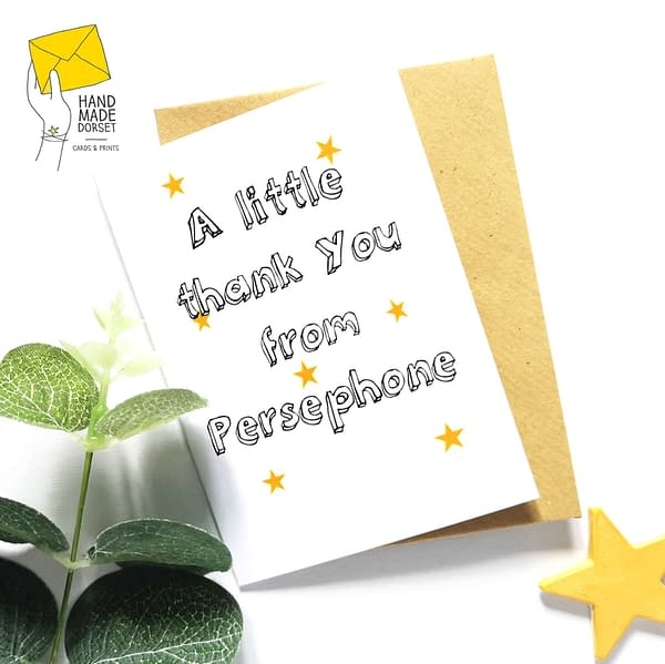 Thank you cards, set of thank you cards