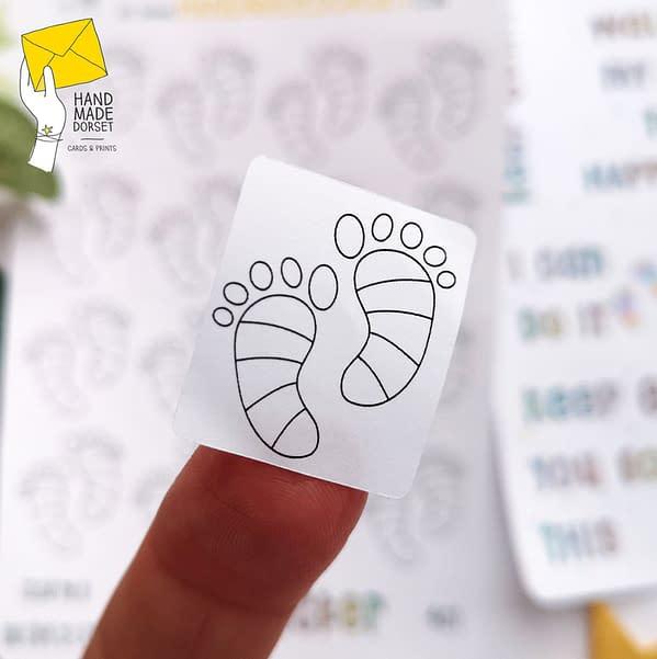 Steps tracker planner stickers, steps tracker stickers