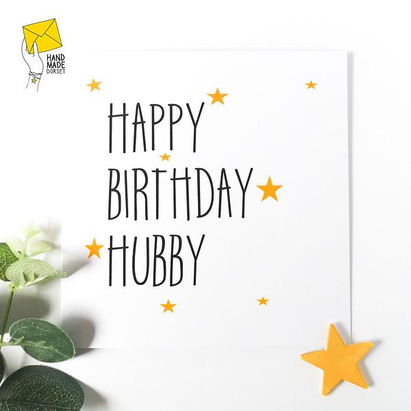 Birthday card for hubby, hubby card