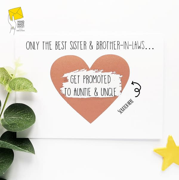 Pregnancy reveal card, sister and brother in law pregnancy reveal