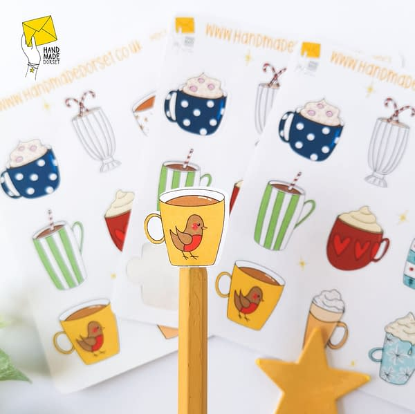Christmas stickers, cup stickers