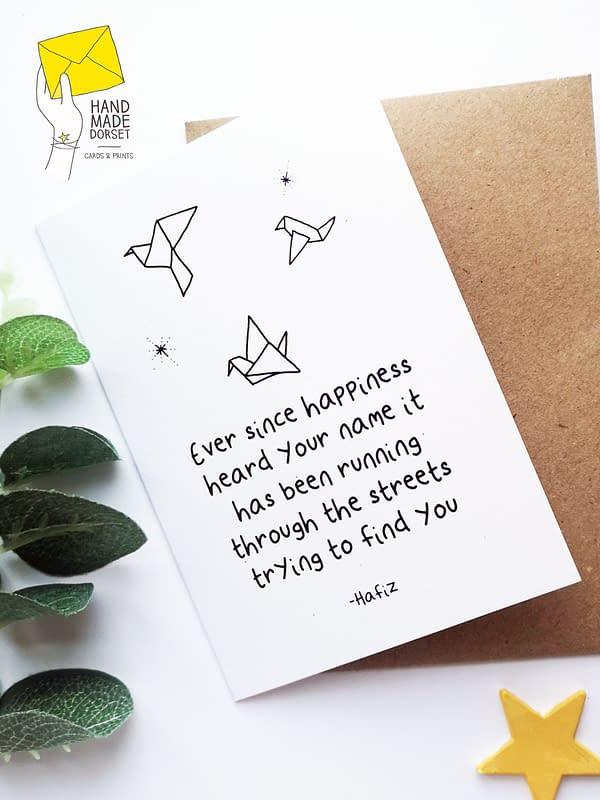 Hafiz card, hafiz quote card