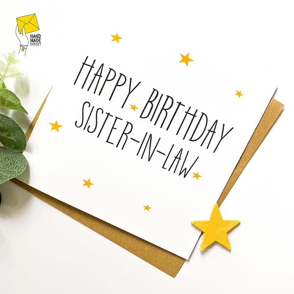 Sister-in-law card, card for sister-in-law