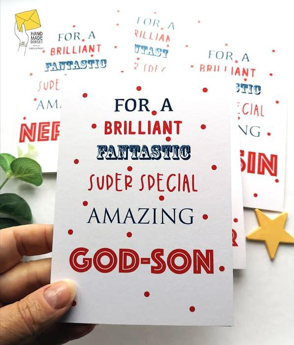 God-son card, birthday card for godson
