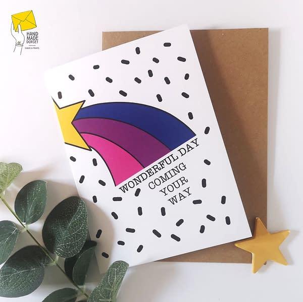 Rainbow hearts card, love you card