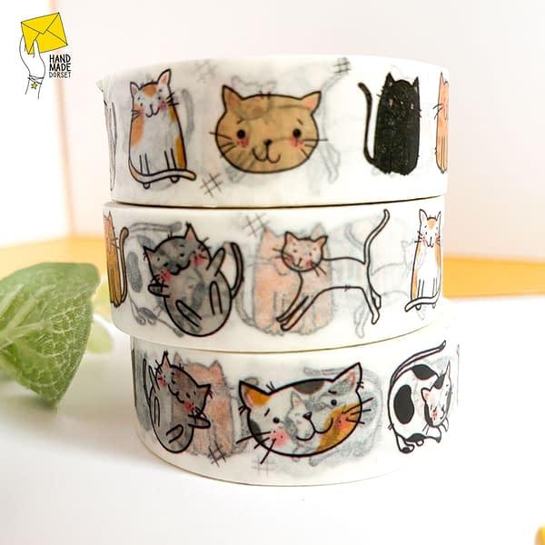 Cat washi tape, kitty washi tape