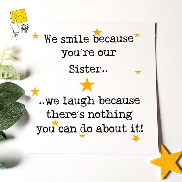 Sister card, card for Sister