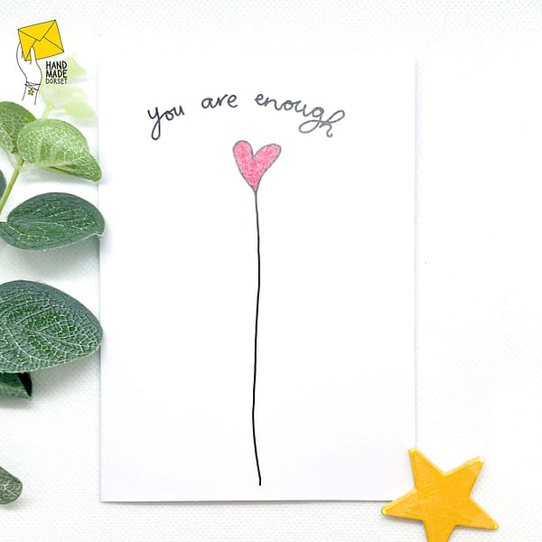 Self care card, you are enough