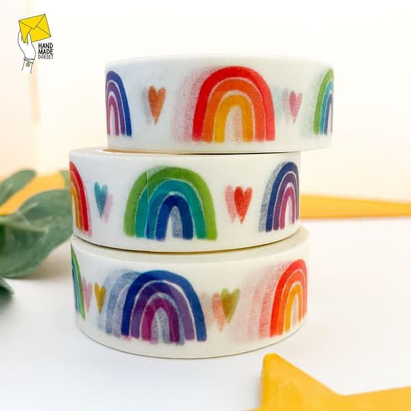Rainbow washi tape, pastel rainbow washi