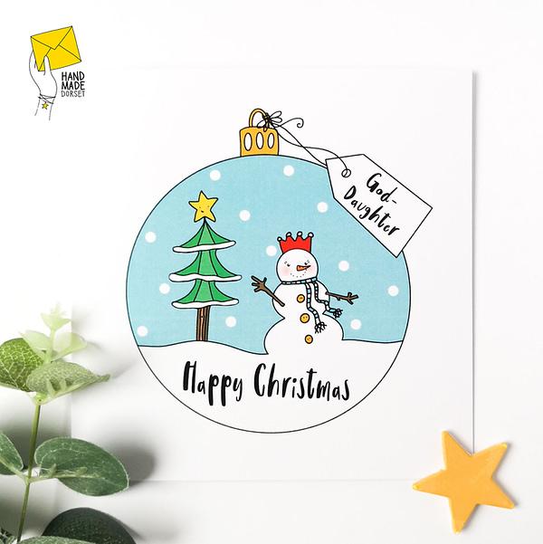 God-daughter Christmas Card, christmas card for god-daughter