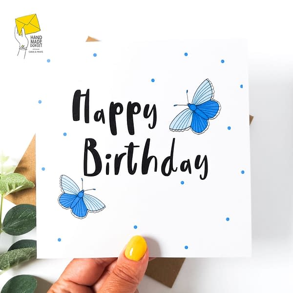 Beautiful Happy Birthday card, butterfly card, birthday card