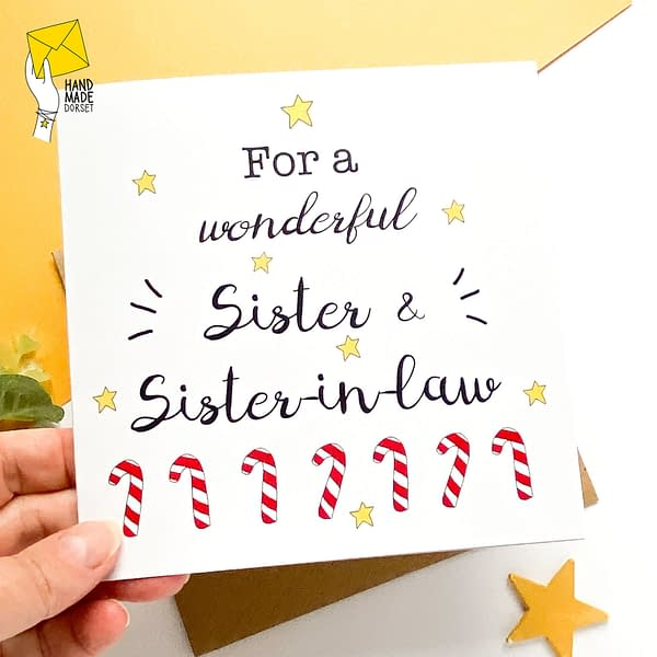 Sister & Sister-in-law Christmas card, card for sister and sister in law