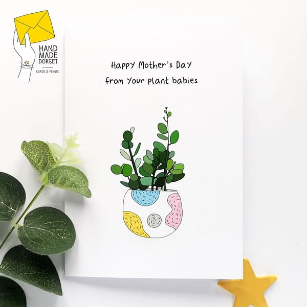 Plant mummy card, plant mum card, mothers day