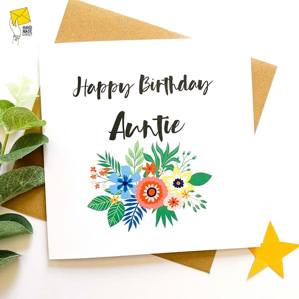 Auntie's birthday card, Card for Auntie
