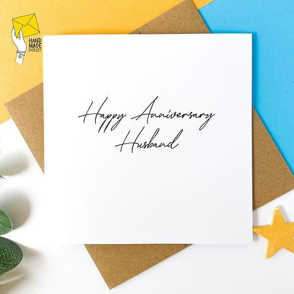 Happy Anniversary Husband card, husband anniversary card
