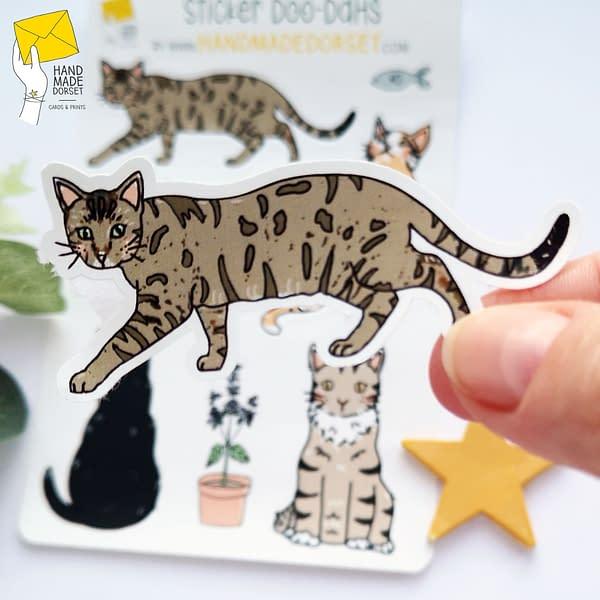 Cute cat stickers, cat sticker sheet