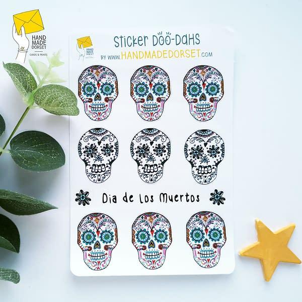 Sugar skull stickers, skull stickers