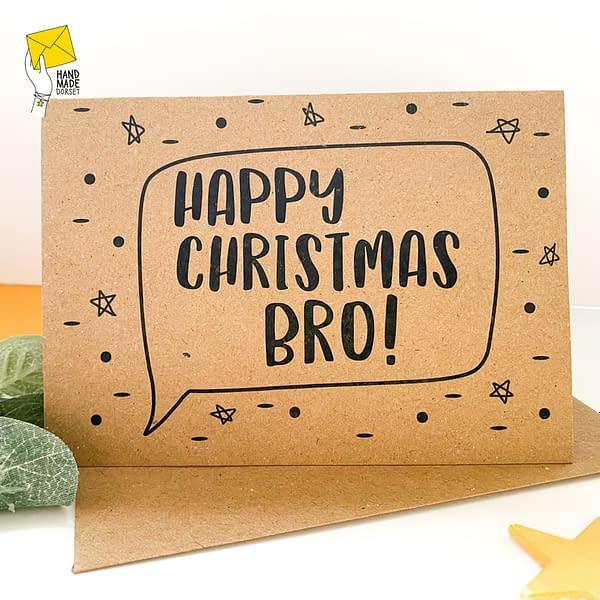 Bro Christmas card, card for brother