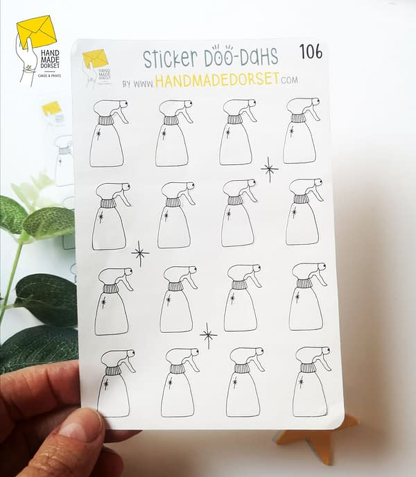Cleaning planner sticker, cleaning routine sticker