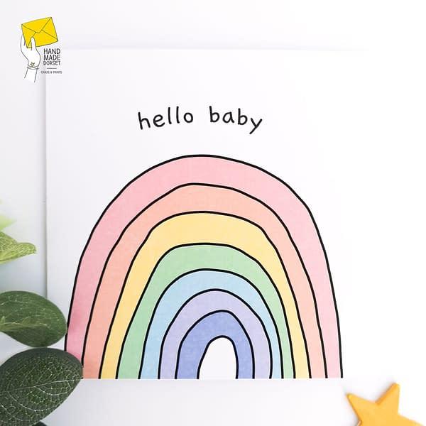 Gender neutral baby card, personalised baby card