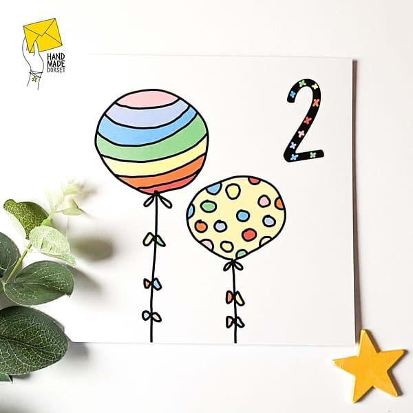 2nd birthdaycard, rainbow birthday