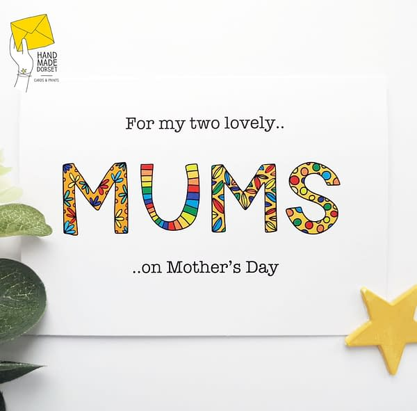Two Mums Mothers day card, for both my mums