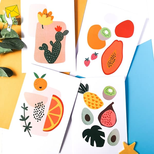 Summer themed cards, Note cards