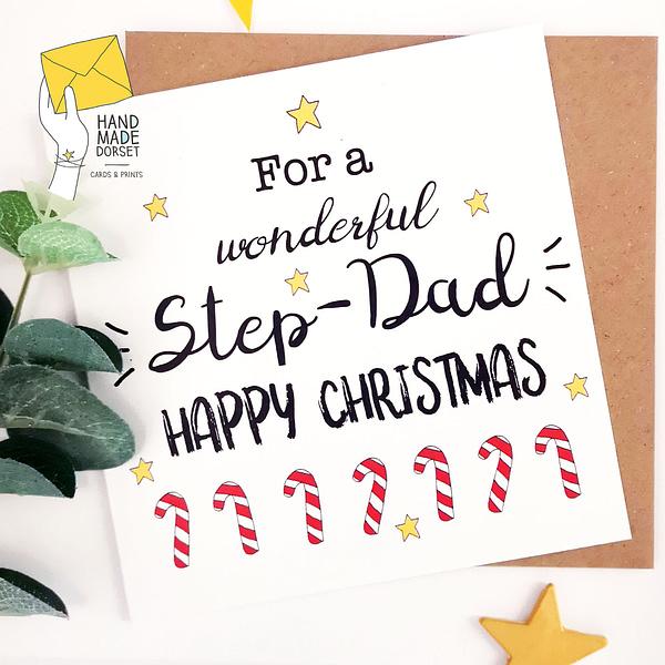 Daddy christmas card, Christmas card for Daddy