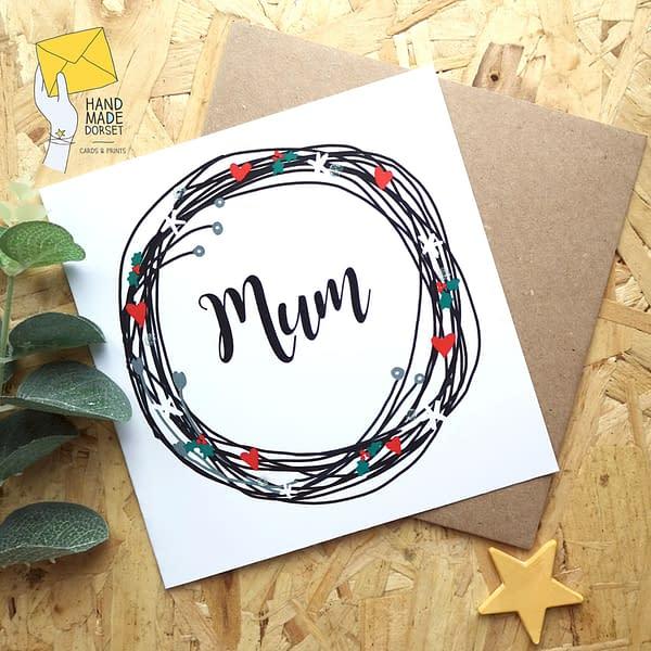 Mum christmas card, Christmas card for mum
