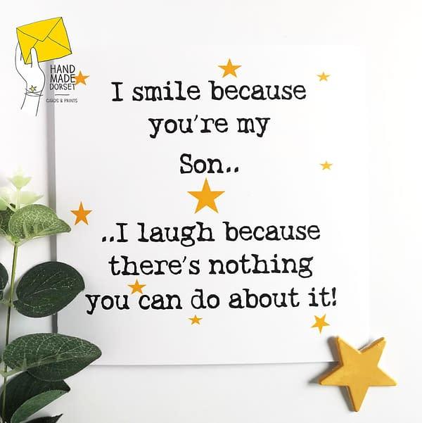 Son birthday card, card for son