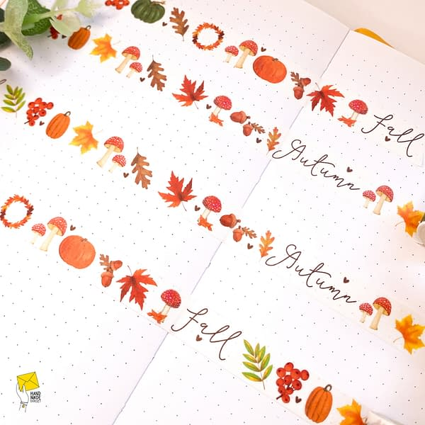 Autumn washi tape, washi tape autumn