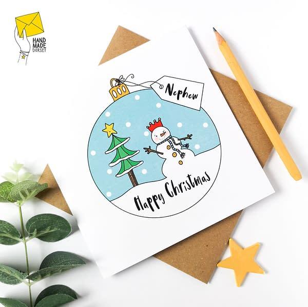 Nephew Christmas card, chistmas card for nephew