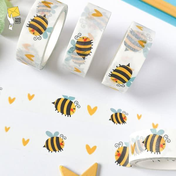Bee washi tape, cute bee washi tape