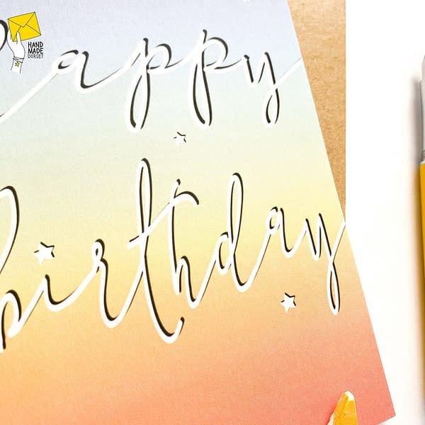Rainbow birthday card, general birthday card