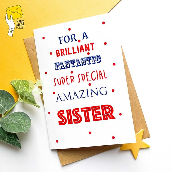 Sister birthday card, birthday card for Sister