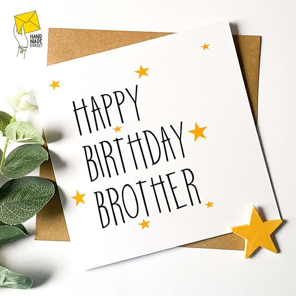 Card for brother, brother card