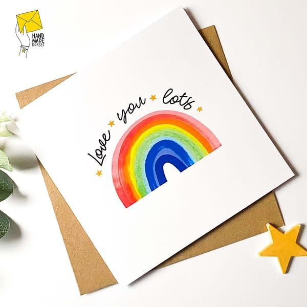 Rainbow card, birthday card, love you card