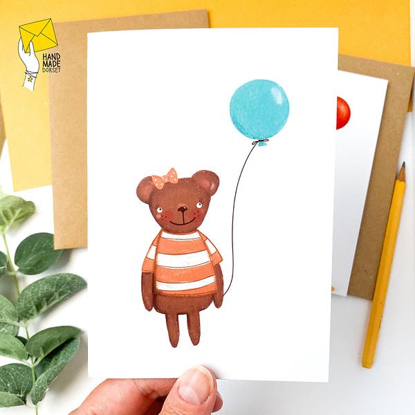 Children's birthday card, children's cards