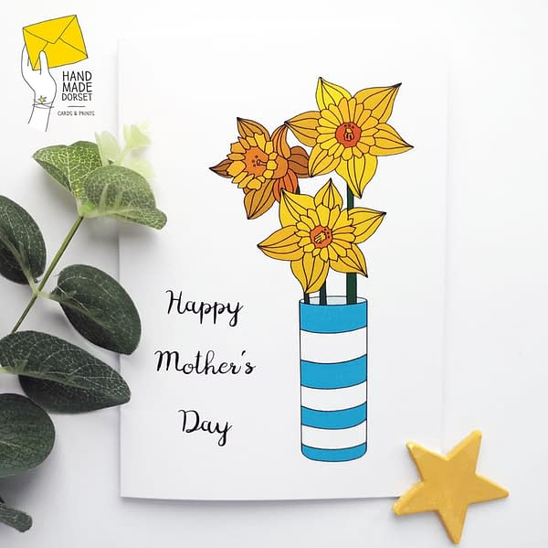 Mother's day card, daffodil mother's day card