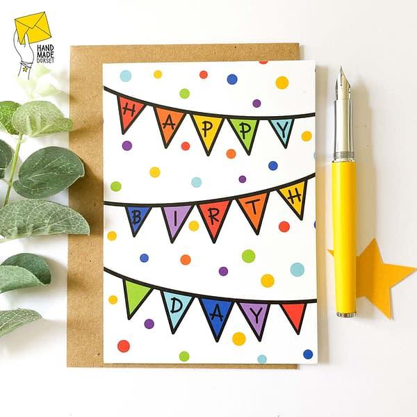 Happy Birthday Card, Rainbow Birthday Card, Children