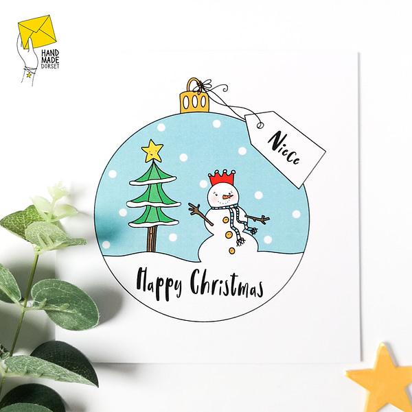 Niece Christmas Card, christmas card for niece