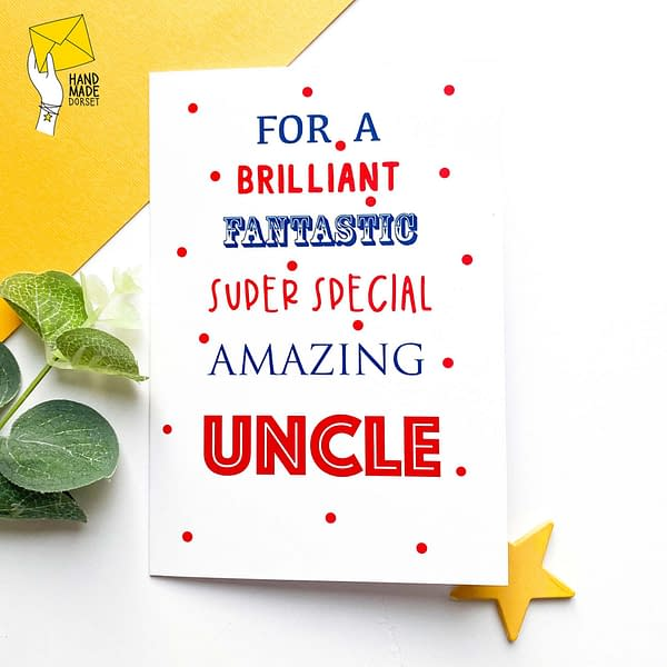 Uncle birthday card, birthday card for Uncle
