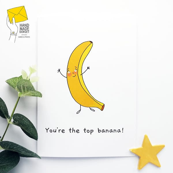 You're the top banana card, well done card, congratulations