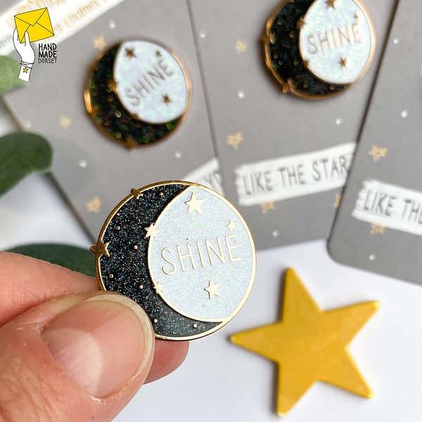 Shine enamel pin, positivity enamel pin