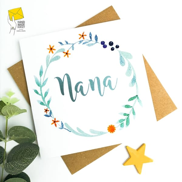 Nana's birthday card, Card for Nana, Nan card,Card for Nanna