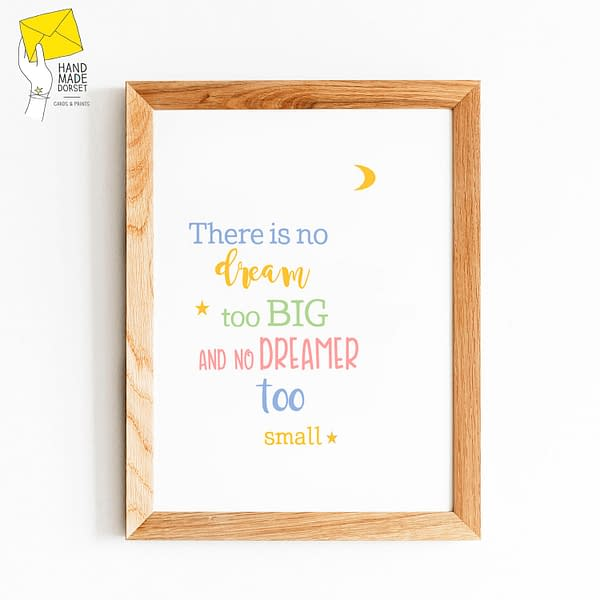 Inspirational nursery print, new baby gift