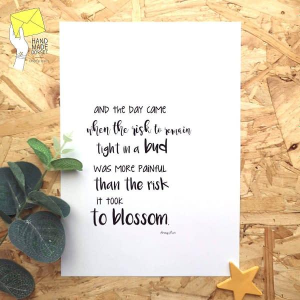 Inspirational quote, Anais Nin